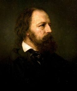 Alfred Tennyson (1809-1892)   Ernest Gustave Girardot   Oil Painting