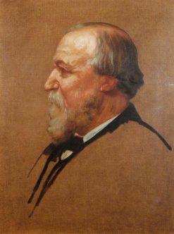 Robert Browning (1812-1889) | Alphonse Legros | Oil Painting