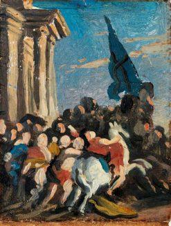 Battle Scene (sketch) | Benjamin West | Oil Painting