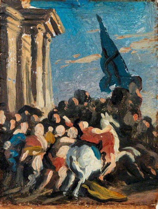 Battle Scene (sketch)   Benjamin West   Oil Painting