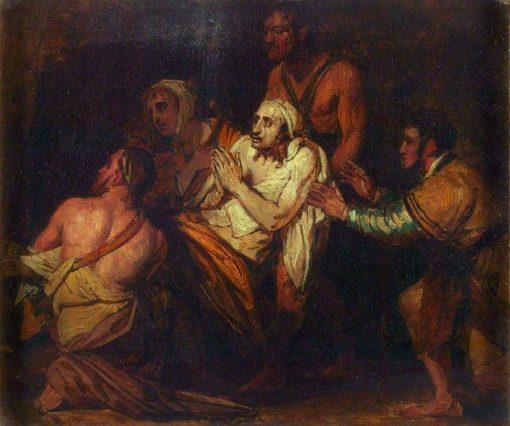 Christ Healing the Sick (sketch) | Benjamin West | Oil Painting