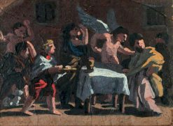 Feast Scene with an Angel (sketch) | Benjamin West | Oil Painting