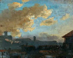 Landscape with Clouds | Benjamin West | Oil Painting