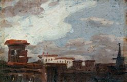 View of a Town (sketch) | Benjamin West | Oil Painting