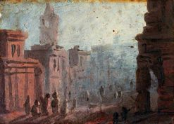 Cityscape (sketch) | Benjamin West | Oil Painting