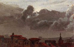 Cityscape with Gathering Clouds (sketch) | Benjamin West | Oil Painting