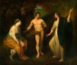 The Choice of Hercules between Virtue and Pleasure | Benjamin West | Oil Painting