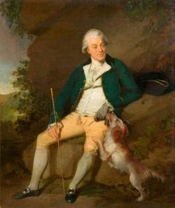 Mr Nicholas': A Seated Man with a Dog | Benjamin Wilson | Oil Painting