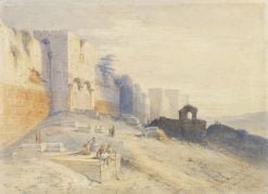 Remains of the Ancient Temple of Jerusalem | David Roberts | Oil Painting