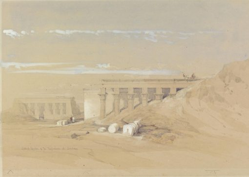 Lateral Elevation of the Typhonium at Dendera | David Roberts | Oil Painting