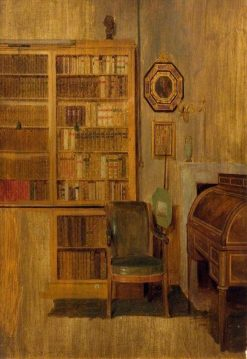 A Bookcase (sketch for 'The Letter of Introduction') | David Wilkie | Oil Painting