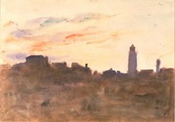 At Sunrise: view from the artist's window in Morpeth Terrace | Hercules Brabazon Brabazon | Oil Painting