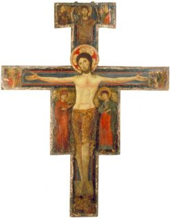 The Crucifixion with the Virgin Mary and Saint John | Italian School th Century   Unknown | Oil Painting