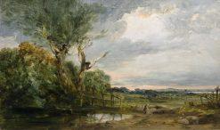 Near Blackheath: Blackwall Reach from Charlton Fields | James Holland | Oil Painting