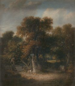 Landscape: A Woody Lane near Hastings | James Stark | Oil Painting