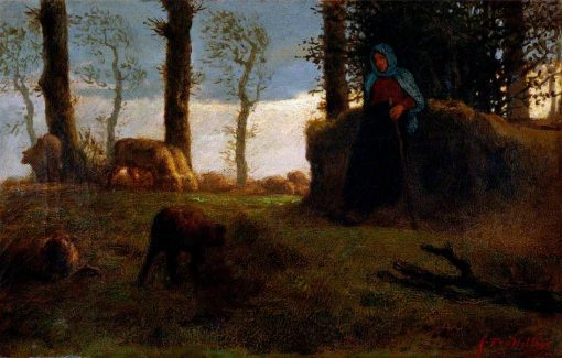 The Shepherdess | Jean Francois Millet | Oil Painting