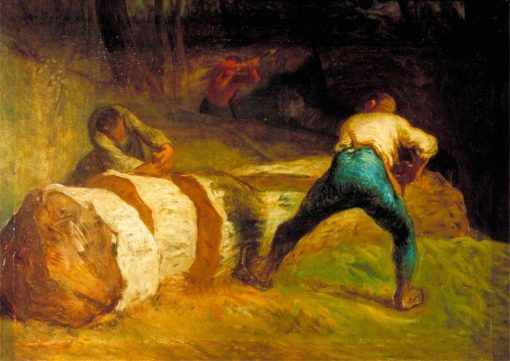 The Wood Sawyers | Jean Francois Millet | Oil Painting