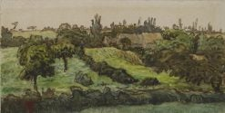 Landscape with Farm Buildings | Jean Francois Millet | Oil Painting