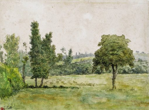 Meadow with Trees   Jean Francois Millet   Oil Painting