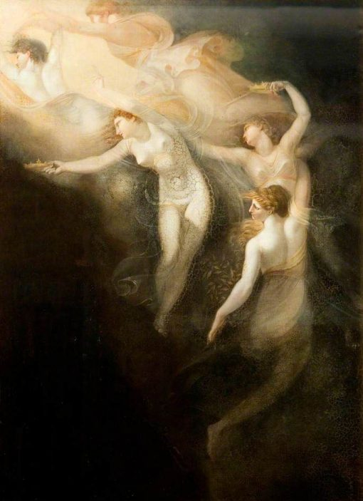 The Dream of Queen Katherine (from Shakespeare's Henry VIII) | Johann Heinrich Fuseli | Oil Painting
