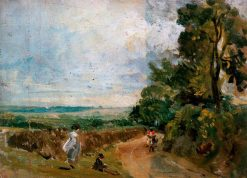 A Country Road with Trees and Figures | John Constable | Oil Painting