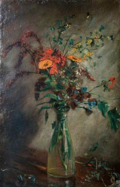 Study of Flowers in a Vase | John Constable | Oil Painting