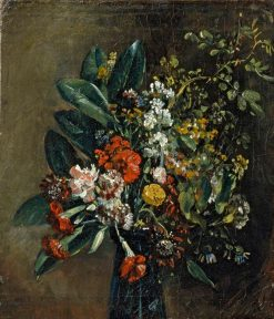 Study of Flowers in a Glass Vase | John Constable | Oil Painting