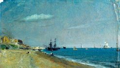 Brighton Beach with Colliers   John Constable   Oil Painting