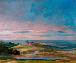 Buildings on Rising Ground near Hampstead   John Constable   Oil Painting