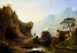 Mountainous Landscape | John Martin | Oil Painting