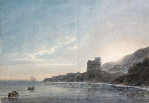 Coast Scene between 'Vietri and Salerno' | John Robert Cozens | Oil Painting