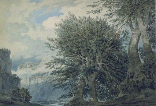 Mountainous Landscape with Beech Trees | John Robert Cozens | Oil Painting