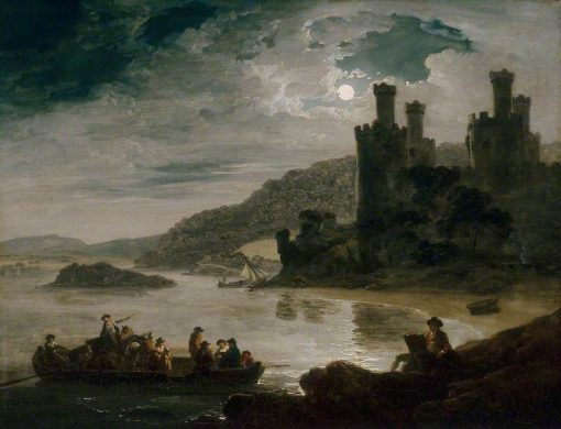 Conway Castle: Moonlight Effect | Julius Caesar Ibbetson | Oil Painting