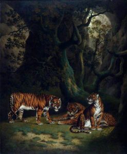 Tigers in a Jungle | Julius Caesar Ibbetson | Oil Painting
