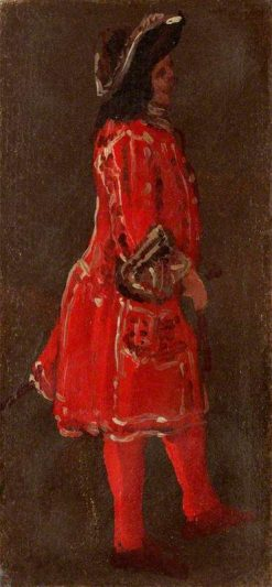 A Man Wearing a Red Coat | Luca Carlevarijs | Oil Painting