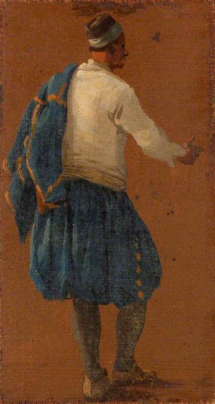 A Man Seen from Behind | Luca Carlevarijs | Oil Painting