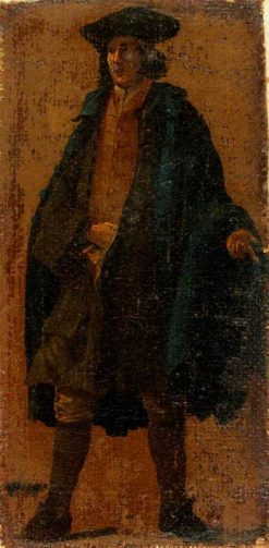 A Man Wearing a Blue Cloak | Luca Carlevarijs | Oil Painting