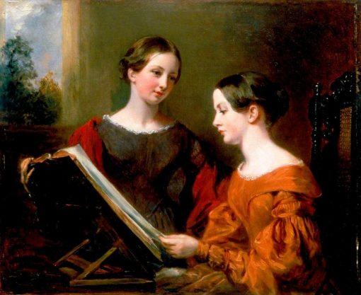 The Sisters | Margaret Sarah Carpenter | Oil Painting
