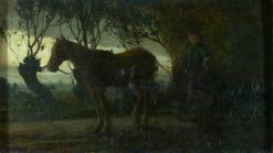 The Hay Cart: Effect of Dawn or Twilight | Matthijs Maris | Oil Painting