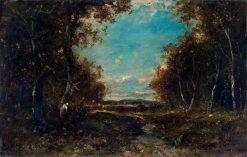 Landscape   Narcisse Dìaz de la Peña   Oil Painting