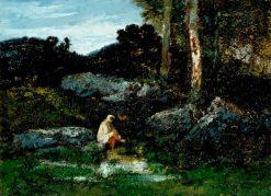 La Baigneuse   Narcisse Dìaz de la Peña   Oil Painting