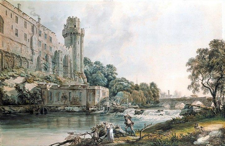 Caesar's Tower And Part Of Warwick Castle Painting Paul Sandby