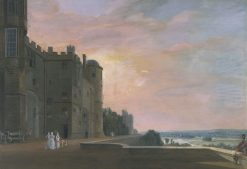 Windsor Castle: the North Terrace looking west | Paul Sandby