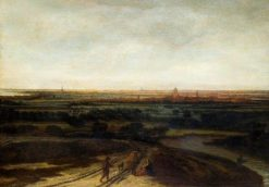 A Dutch Landscape: View of a Flat District | Philips Koninck | Oil Painting