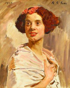 Elsa Lanchester (1902-1986) | Reginald Grenville Eves | Oil Painting