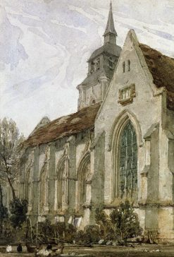 Church in Normandy | Richard Parkes Bonington | Oil Painting