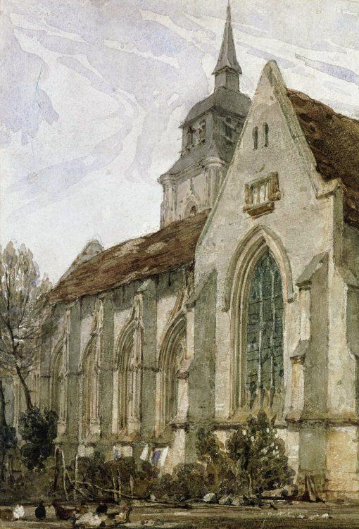 Church in Normandy | Richard Parkes Bonington | Oil Painting