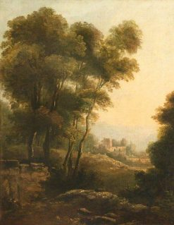 A Wooded Landscape with a Church beyond | Richard Wilson