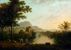 Landscape Composition: River Mouth with Peasants Dancing | Richard Wilson
