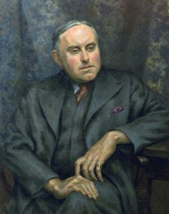 Geoffrey Whitworth (1883-1951)   Roger Eliot Fry   Oil Painting